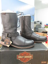NEW Harley Davidson Men's Leather Boots Shoes Medium Black Constrictor