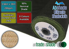 90% Shade Cloth 3.66M x 30M Roll, Shadecloth/mesh in multiple colours