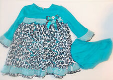 Bonnie Baby Toddler Girls 2 Piece Dress with Matching Bloomers Size 18 Month NWT