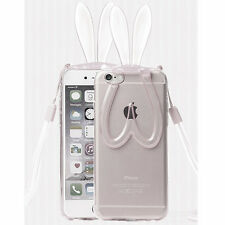 3D Cute Cartoon Rabbit Ear Soft Silicone Case Cover For Apple iphone 6 6Plus New