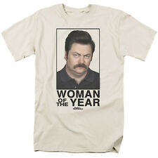 Parks & Recreation TV Show Ron Swanson Picture Woman of the Year Tee Shirt S-3XL