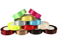 "25Yards 1""(25mm) Ribbon Wedding Party Craft Satin DIY hair Bow 15Colors"