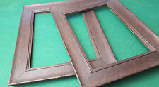ANTIQUE / VINTAGE - PAIR OF - PICTURE / PHOTO FRAMES USED - WOODEN - 2 SIZES
