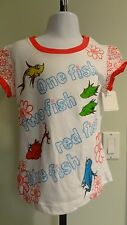 """NWT Dr. Seuss Girl's """"One Fish Two Fish"""" Sparkly SS Shirt- Sizes 12 months - 5T"""