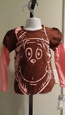 "NWT Dr. Seuss Toddler ""The Cat In The Hat"" Long Sleeve Brown Shirt- Sizes 2T-4T"