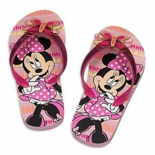 """Disney Store Minnie Mouse Clubhouse """"Twinkle Toes"""" Flip Flops For Girls NEW"""
