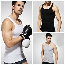 Muscle Men Vest Tank Sleeveless T-Shirt Cotton Casual Gym Running Exercise Tops