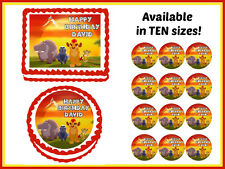 Lion Guard Edible Birthday Cake Cookie Topper Cupcake Image Icing