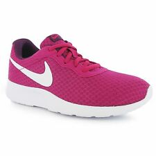 Nike Tanjun Fitness Trainers Womens Fuchsia/White Gym Workout Sneakers Shoes