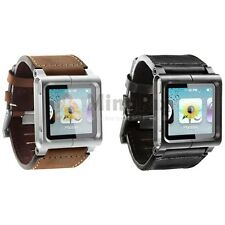 Leather Chicago Multi-Touch Wrist Strap Watch Band for iPod Nano 6th Generation