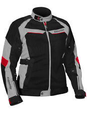 Castle Womens Grey/Red/Black Passion Air Motorcycle Textile Mesh Jacket