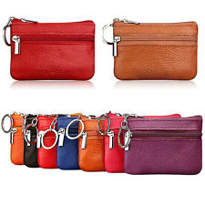 Soft Women Card Coin Key Holder Zip Leather Pocket Wallet Pouch Bag Men Purse