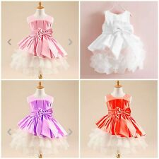 New Girls Flower Tulle Dress Wedding Pageant Bridesmaid Kids Clothes size 1-5yrs