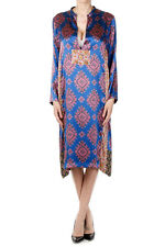 DRIES VAN NOTEN Women Printed Long Sleeved Silk DAFINA Dress New with Tag