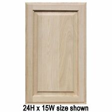 """Unfinished Oak Cabinet Doors, Square with Raised Panel (up to 24""""H)"""