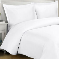 1000TC Egyptian Cotton DUVET COVER Sateen Solid White