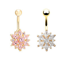NEWEST Belly Button Rings Crystal Rhinestone Jewelry Navel Bar Body Piercing