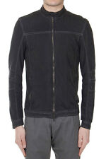 DROMe Men New Black Karung Snake Skin Jacket Made in Italy Original with tags