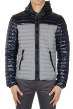 DUVETICA Men New Gray Blue Padded Reversible Quilted Jacket Original with tags