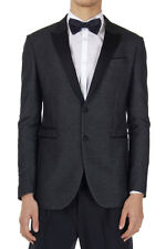 NEIL BARRETT TUXEDO New Men Black Skinny Fit Blazer Jacket Made Italy