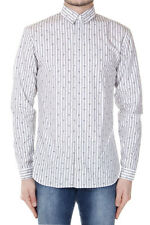 DIOR Men White Cotton Striped Shirt with Hearts Print Made in Italy New