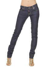 DSQUARED2 Dsquared² Women New Blue Denim Stretch SLIM Jeans Trousers Pants