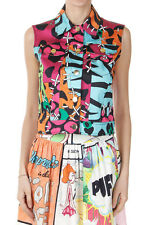 MOSCHINO CHEAP AND CHIC Women Multicolor Stretch Cotton Abstract Pattern Vest