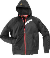 Spidi Black Hoodie Armor Jacket With Elbow/Shoulder Protection