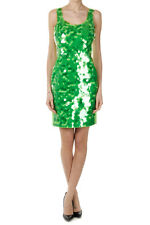 MOSCHINO CHEAP AND CHIC Women Green Sleeveless Dress with Sequins