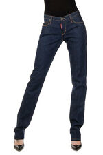 DSQUARED2 Dsquared² Women Blue Dark Wash Denim Jeans Made in Italy