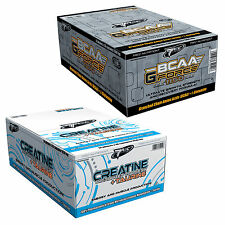 BCAA G-FORCE & Creatine Micronized 200 Mesh + Taurine 30-180Caps. Blisters Stack