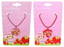 Strawberry Shortcake Beaded Charm Necklace 1pc Dress-Up Costume Accessory