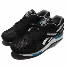 Reebok GL 6000 PP Black Blue White Mens Suede Classic Line Running Shoes AQ9752