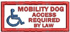 Access Required Mobility Service Dog Patch Working Dog Patch White Black