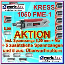 KRESS 1050 FME-1 1050FME-1 Milling motor with 6 Collets Nuts Year 2016