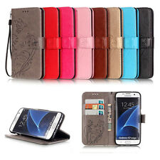 Floral Wallet Card Leather Flip Case Cover Skin Stand For Samsung Galaxy S7 Edge