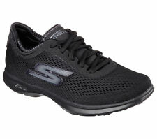 14211 Black Skechers Shoes Go Step Pillars Women Sport Walk Mesh Casual Sneaker