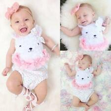 Cute Kids Baby Boys Girls Cotton Romper Jumpsuit Bodysuit Clothes Outfit 0-18 M