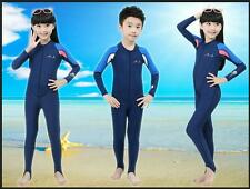 NEW! Kids One-piece Swimwear Coverall Wetsuits Surfing  Diving Suit Boys Girls