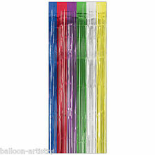 8ft Multi Coloured Door Doorway Foil Curtain Birthday Party Decoration