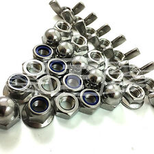 A4 FULL NUTS NYLOC NUTS SERRATED FLANGE NUT WING NUT NYLOC FLANGE NUT DOME
