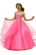 Perfect Angels 1465 Pink Beaded Girls Pageant Gown sz 6
