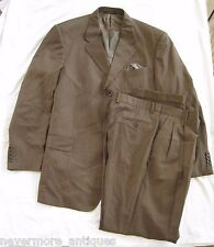Giorgio Valentini Zignone Brown Pinstripe Wool Suit Size 44 L Jacket 38 Pants