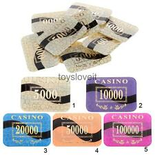 10pcs New Bulk Lot of 10g Rectangle Smoothing Casino Quality Acrylic Poker Chips