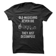 Old Musicians - Funny T-Shirt Short Sleeve 100% Cotton Music Humor Joke Death