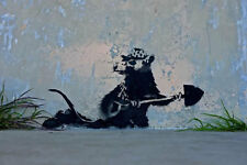 Stretched Digging Rat Canvas Print by Banksy Graffiti Street Art Wall *Assorted*