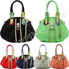 Fashion Womens Designer Padlock Faux Leather Tote Bag Ladies Shoulder Handbag Ne