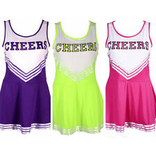 Cheerleader Sports Uniform School Girl Women's Fancy Dress Costume Outfit US X1