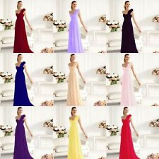 Hot! One-Shoulder Evening Dress Ball Gown Formal Bridesmaid Dress Cocktail Gown