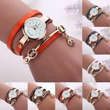 Womens Watch Quartz Vintage Leather Stainless Steel Analog Ladies Wrist Watches